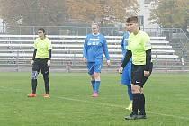 Soušské fotbalistky (v modrém) vyhrály v Horní Bříze.