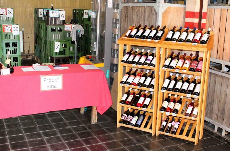 Lidé si užívali prohlídky a ochutnávky při dni vína v Chrámcích.