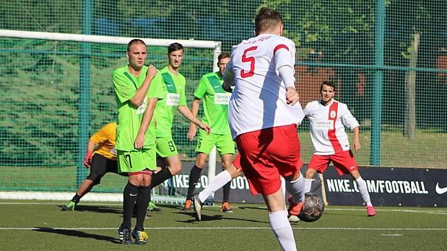 Zápas Mostu (v zeleném) s Jihlavou rozhodly až penalty.