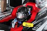 Emerson Fittipaldi se svým synem na mosteckém autodromu.