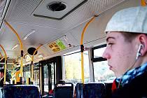 Autobus MHD v Mostě.