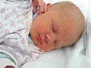 Adéla Kozánková se narodila Nikole Bajerové z Loun 3. února v 9.39 hodin. Měřila 46 cm a vážila 2,7 kilogramu.