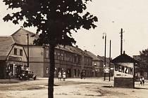 Kopisty na historické pohlednici.