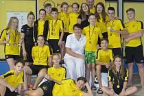 Úspěšný tým litvínovských plavců.