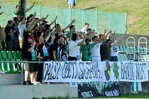 Středeční dohrávka mezi Baník Most-Souš (v zeleném) a celkem Štětí.