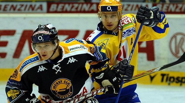 Hokejisté Litvínova v zápase se Zlínem.