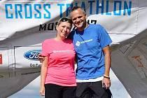 Šéf litvínovského klubu Krušnoman Tomáš Langhammer a jeho manželka Andrea, ve které má obrovskou podporu a to nejen životní, ale také závodní.