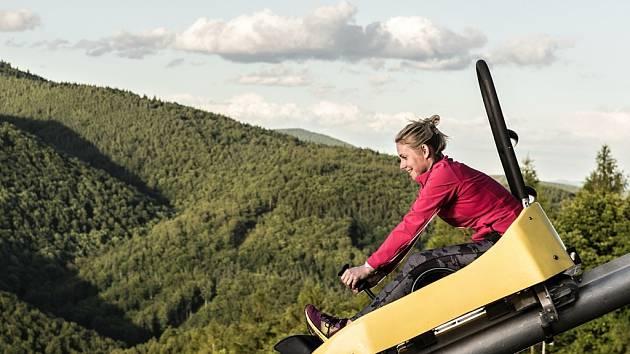 Část bobové dráhy, která na Klínech vyroste v délce bezmála jednoho kilometru