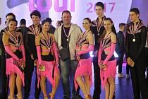 Taneční skupina Demi dance z Mostu, které se podařilo hned třikrát vybojovat druhé místo.