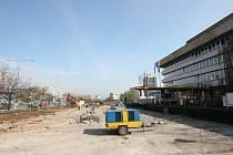 Rekonstrukce parkoviště před magistrátem v Mostě v roce 2012