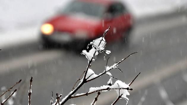 Sněžení a déšť.