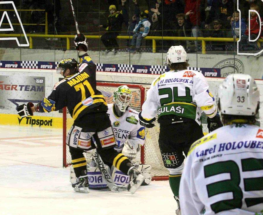 Hokejisté Litvínova doma převálcovali Karlovy Vary
