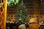 Vánoce na 1. náměstí v Mostě.