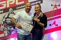 Petr Pastýřík s přítelkyní na mistrovství Evropy, které se konalo na Slovensku.