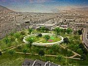 Studie proměny parku u sportovní haly v Mostě