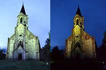 Kostel v Lužicích.
