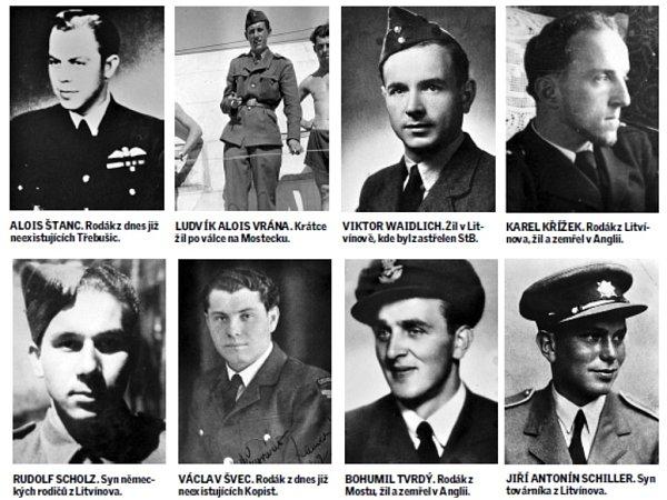 Piloti zknihy Občané Mostecka vřadách RAF za II. světové války.