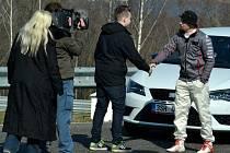 Na Autodromu Most natáčela Česká televize pořad Kousek nebe.