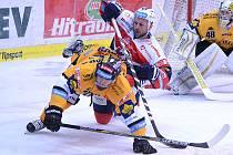 Páté kolo play out: Litvínov versus Pardubice.