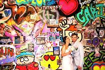 Návštěvníci se budou moci nechat vyfotografovat u graffiti stěny.