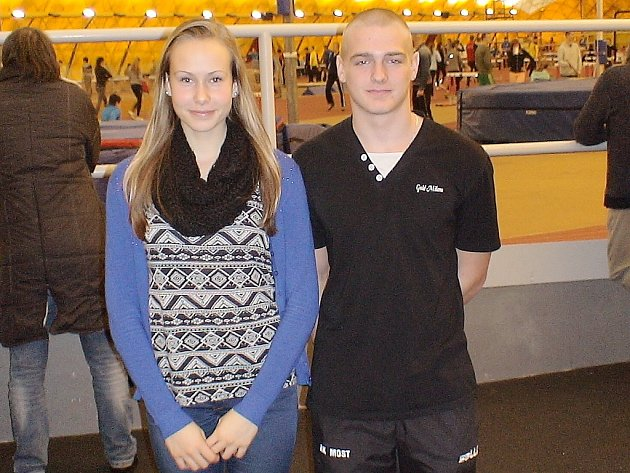 Atleti Kristýna Vrabcová a Dominik Krivák v Praze.