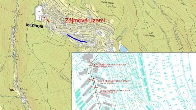 V Okružní ulici v Meziboří začne rekonstrukce vodovodu a kanalizace.