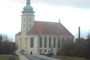 Mostecký děkanský kostel Nanebevzetí Panny Marie.