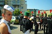 Mostecká slavnost, sobota 10. září, průvod z 1. náměstí ke kostelu a zahájení.