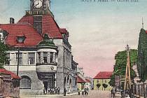 Souš na pohlednici ze sbírky Jaroslava Hrona.
