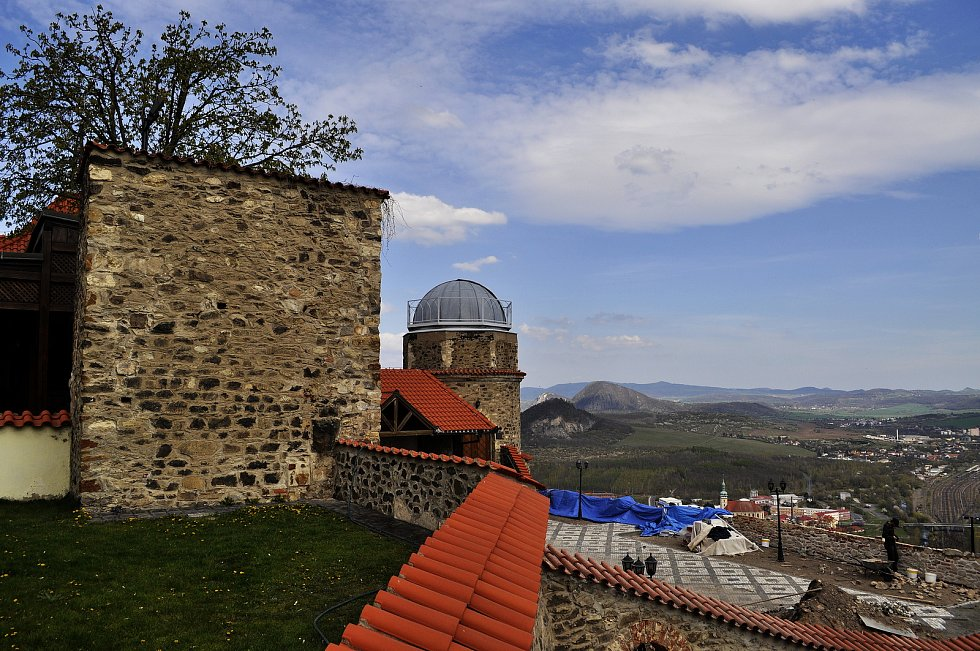 Hrad Hněvín v Mostě v pátek 30. dubna.