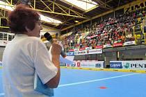 Iva Francová při zahájení Sportovních her seniorů.