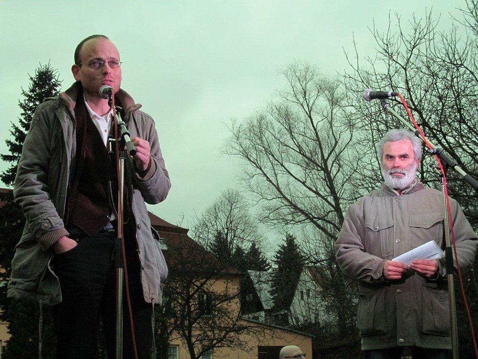 Jan Rovenský z Greenpeace a Vladimír Buřt.