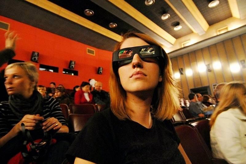 Kino Kosmos v Mostě po modernizaci na 3D