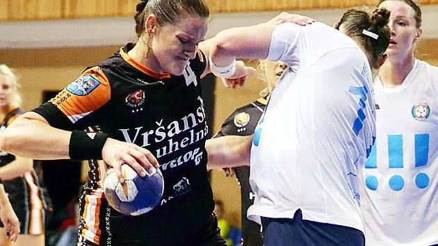 Iveta Matoušková při posledním zápase play off s Porubou.