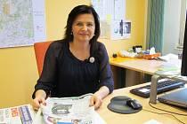 Gabriela Sáričková Benešová ve své kanceláři.