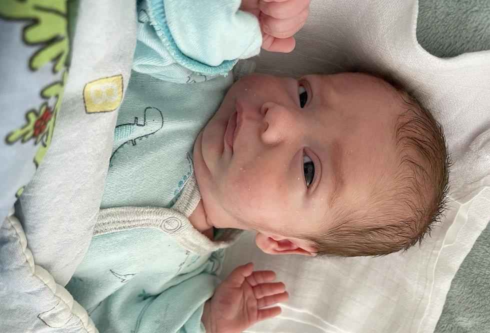 Dominik Hána se narodil 27. května v 9.44 hodin mamince Monice Vodičkové z Mostu. Měřil 42 cm a vážil 1,49 kg.