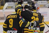 Radost litvínovských hokejistů.