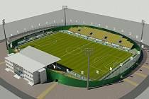 Vizualizace nového mosteckého stadionu.