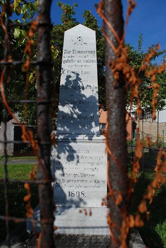 Litvínovský Chudeřín, pomník padlým v prusko-rakouských válkách.