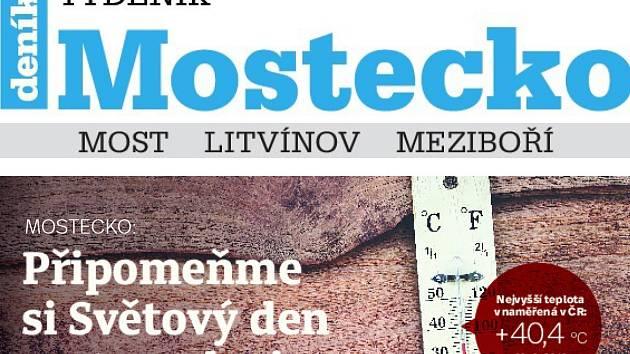 Ve středu vychází nový týdeník Mostecko.