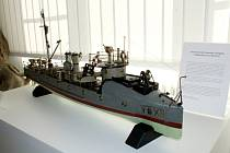 Exponát měsíce října v Oblastním muzeu a galerii v Mostě, historický model rakousko - uherského torpédového člunu SM Tb 12.