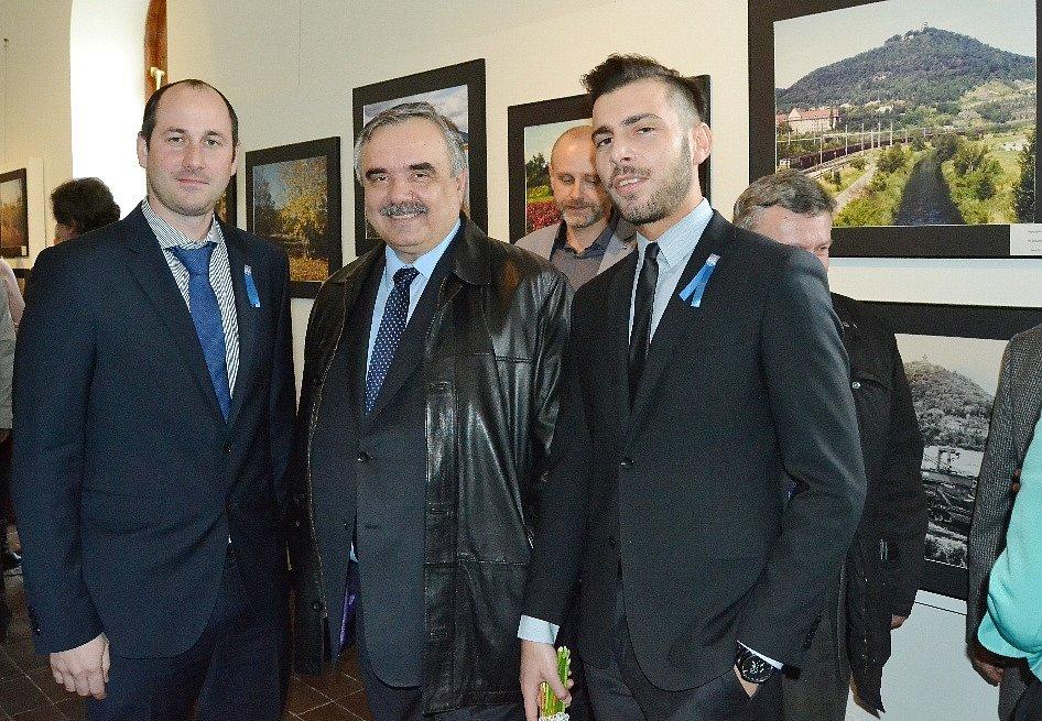 Zleva primátor Jan Paparega, poslanec Vlastimil Vozka a náměstek primátora Marek Hrvol.