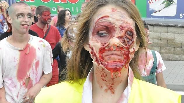 Zombie Walk v Mostě.