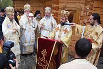 Vysvěcení pravoslavného kostela v říjnu 2011.