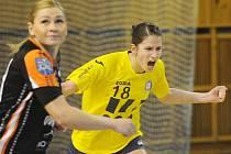 Poruba (ve žlutém) se dokázala ve finále poháru prosadit proti Mostu devatenáctkrát. Nestačilo to.