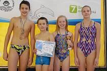 Zleva jsou Adam Novák, Petr Adamec, Kamila Javorková a Anna Haselbergerová.