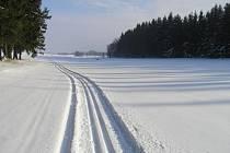 Běžkaři se mohou vydat za Bílou stopou na Dlouhou Louku.