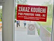 Mostecká nemocnice, zákaz kouření