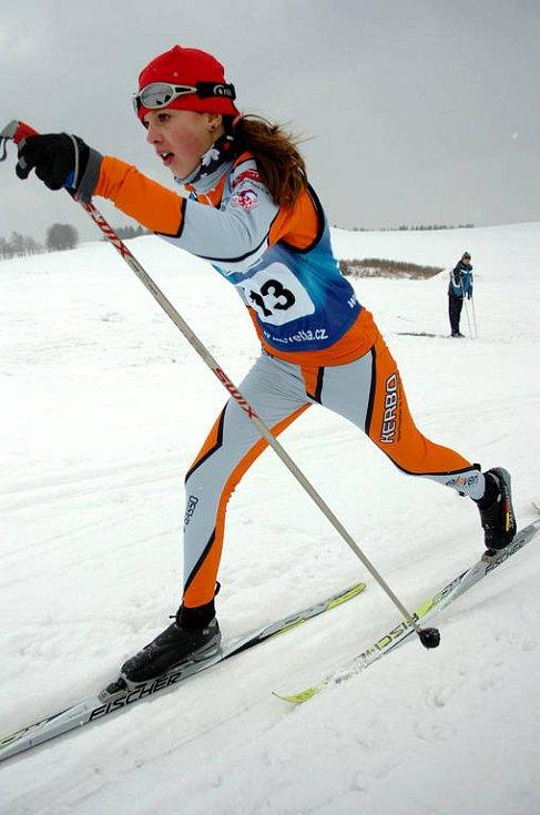 Mistrovství ČR starších žáků v běhu na lyžích.