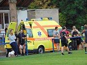 Zápas RLC Dragons - Orli Havlíčkův Brod se hrál v Proboštově. Jeden z hráčů hostí skončil se zlomenými žebry v nemocnici.